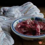 risotto cremoso alla barbabietola rossa