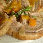 Rollè di vitello con cuore di rosmarino e salsa di carote