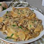 scaloppine di pollo con funghi e grana