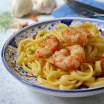 Scialatielli aglio olio peperoncino e gamberi