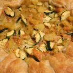 Sfoglia ripiena con patate, zucchina e salmone