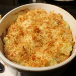 Sformato di patate e cavolfiore gratinato in forno