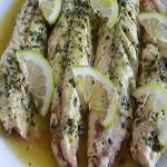 sgombro olio limone e prezzemolo