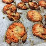 smashed sweet potatoes