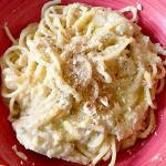 spaghetti con crema di cavolfiore e nocciole (bimby)
