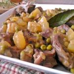 spezzatino con patate e piselli ( tenero e cremoso)