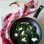 spinaci filanti con formaggi misti
