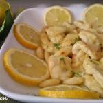 straccetti di pollo al limone e zenzero