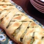 strudel con verze e patè di olive nere