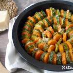 teglia di carote e zucchine al parmigiano