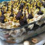 Tiramisù al pistacchio e cioccolato