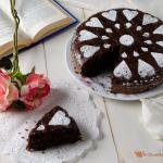 torta al cioccolato con riso soffiato
