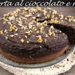 torta al cioccolato e noci, soffice e umida