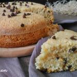 torta al cocco con gocce di cioccolato ( senza glutine e latte)