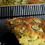 torta al latte con zucchine e mozzarella