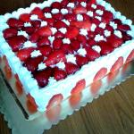 torta allo yogurt e fragole