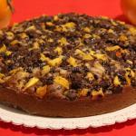 Torta cachi e cioccolato al olio e  sciroppo d'acero