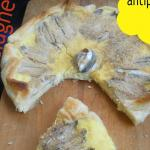 torta con alici e mozzarella