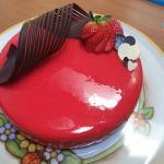 torta con glassa a specchio