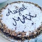 """Torta di compleanno con glassa """"2 cioccolati"""""""