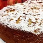 torta di mandorle, mele e pere