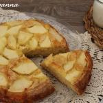 torta di mele e panna fresca