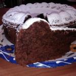 torta di pane e cioccolato fondente