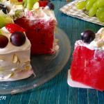 Torta estiva d'anguria e frutta