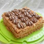 torta fredda con doppia crema