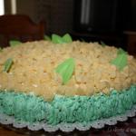 Torta mimosa farcita e decorata