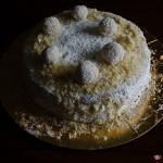 torta raffaello con cioccolato bianco e cocco