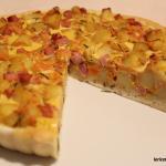 Torta salata con patate, zucca e prosciutto