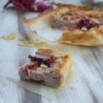 Torta salata con radicchio rosso e ricotta