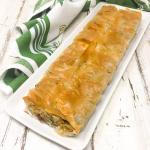 torta salata con spinaci e salsiccia
