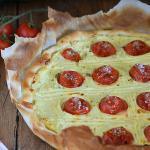 torta salata ricotta pomodorini e basilico