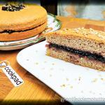 Torta soffice alle nocciole e marmellata di mirtilli con farina di grano saraceno gluten free