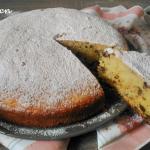 torta soffice con ricotta e gocce di cioccolata