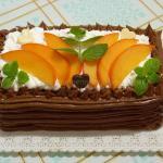 Tortino agli agrumi con crema all'arancia e cachi