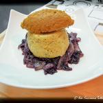 tortino di polenta con mousse di missoltino e radicchio brasato – ricetta tipica del lago di como rivisitata in chiave moderna –