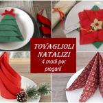 tovaglioli natalizi: come piegarli