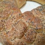 Treccia di pane a 5 capi