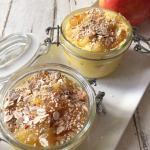 trifle alle mele con mascarpone e muesli