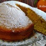 Una torta  all'arancia velocissima e senza lattosio