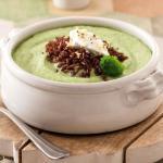 Vellutata di broccoli allo zenzero con riso rosso