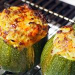 zucchine tonde farcite di carne e mortadella