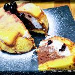 Zuccotto di pandoro con ricotta e budino