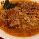 Zuppa con costine affumicate e cavolo verza