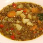 Zuppa con lenticchie e patate