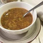zuppa di amaranto, riso e legumi