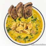 Zuppa di lago con lavarello e crostini gluten free